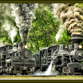 Photo Finish by James Eickman - Transportation Trains (  )