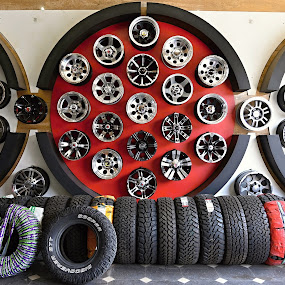 A Tyres Symmetry. by Marcel Cintalan - Artistic Objects Other Objects ( shop, pneu, tyres, symmetry )