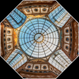 Gallery Vittorio Emanuele II by Andrea Conti - Buildings & Architecture Architectural Detail ( milan, ottagono, italia, gallery, galleria, octagon, gallery vittorio emanuele ii, architecture, milano, italy )