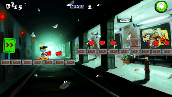 Subway Zombie Skater Run - screenshot