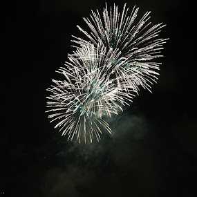 Fireworks by Manoj Ojha - Abstract Fire & Fireworks ( pwcbwlandscaps; buhaira, water festival; 2012; fireworks; uae, sharjah )