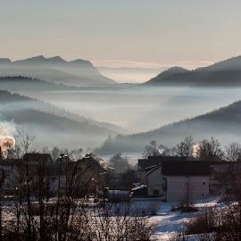 Krasno National Park Sjeverni Velebit by Lucijan Španić - Landscapes Weather ( winter, fog, snow )