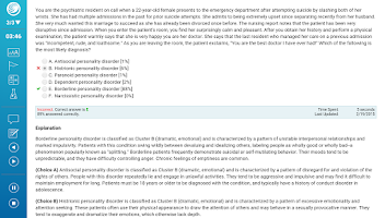 Screenshot of UWorld USMLE