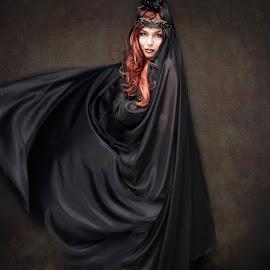 Queen of the night by Wanda Malfara - People Portraits of Women ( portraiture, fantasy, glamour, beautiful, fine art photography, women, portrait )