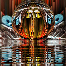 Bird house catseye by Ron Meyers - Digital Art Abstract