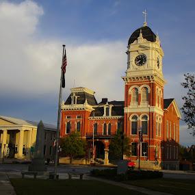 Historic Covington Courthouse by David Jarrard - City,  Street & Park  Historic Districts ( covington, lawyers, historical, courthouse )