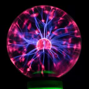Plasma ball by Malcolm Duke - Abstract Patterns ( plasma, plasma ball, dark, fun, crop )
