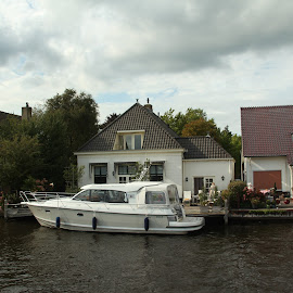 Holland3 by Pauli Langbein Koenders - City,  Street & Park  Skylines ( water, houses, holland, boat, netherlands, river )