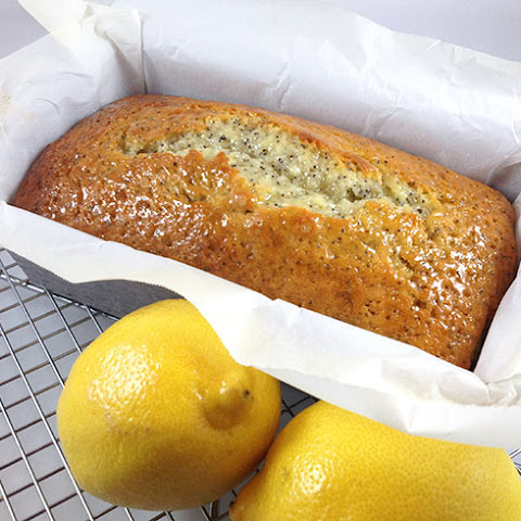 Lemon Poppy Seed Bread w/Almond Glaze