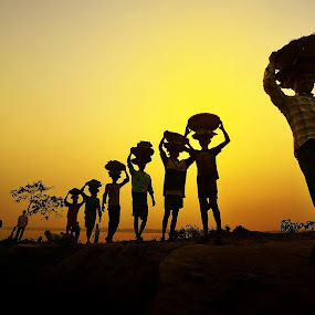 7 Brothers by Oms Datum Photography - Professional People Factory Workers ( person · photograph · silhouette · equipment · travel · landscape · shot ·  digital · photography · sky · nature · photographer · focus · men · camera · male · hobby · young · photo · professional · picture · tourist · blue · photographing · outdoor · view · tripod )