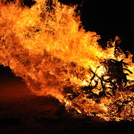 Burn! by Savannah Eubanks - Abstract Fire & Fireworks ( fire )