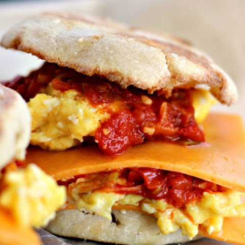 Egg and Cheese Breakfast Sandwich with Smoked Scallion Sauce