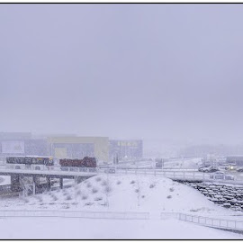 IKEA by Atle Bogen - City,  Street & Park  Markets & Shops ( lights, bergen, cars, snow, buildings, panoramic, ikea, norway, åsane )