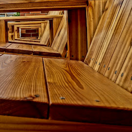 Wonder of Wood by Barbara Brock - Artistic Objects Industrial Objects ( angles, wood chairs, wood, texture, furniture, wood grain )