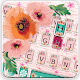 Girly Wall Flower Keyboard Theme APK