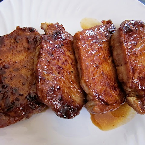 Spicy Brown Sugar Glazed Pork Chops