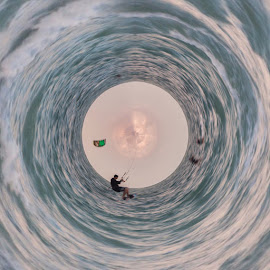 360 photography  by Diana Santana Moreno - Digital Art People ( kite surfing )