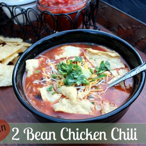Best Ever Mexican 2 Bean Chicken Chili ~ Simple & Easy