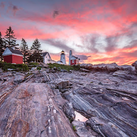 Sunrise Pemaquid by David Long - Buildings & Architecture Public & Historical ( maine, lighthouse, pemaquid )