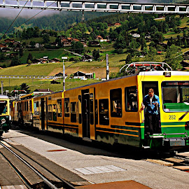 Short break by Ranjit Kumar Chakraborty - Transportation Trains ( passenger, mountain, railway, train, electricity )