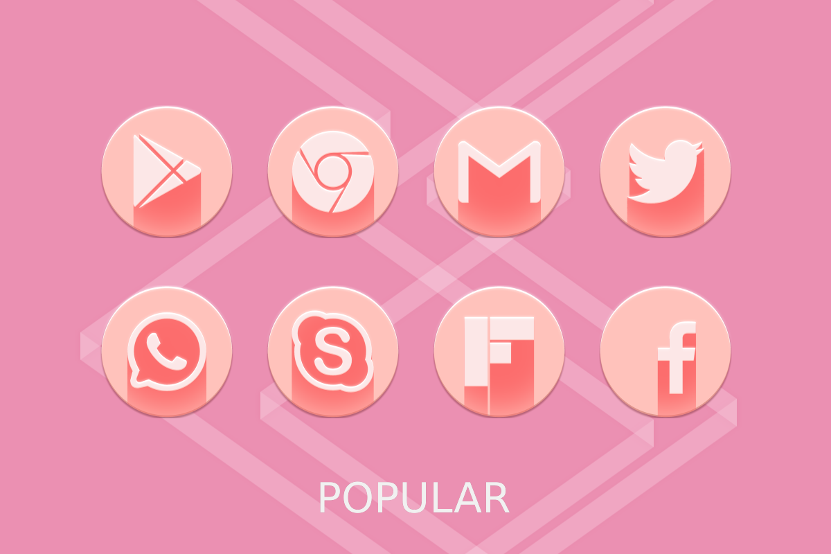 Pink Multilauncher Icon Pack Screenshot 0