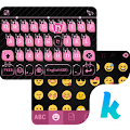 App Pink & Black Kika Keyboard Theme APK for Kindle
