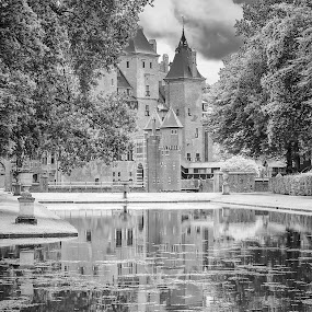 Kasteel Ter Haar BW by Rob Menting - Buildings & Architecture Public & Historical ( canon, eos, building, reflection, europe, white, castle, travel, architecture, utrecht, netherlands, black )