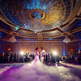 My First Dance by Melvin Gilbert - Wedding Reception ( first dance, wedding, photographer, ballroom, marriage, bride, bride & groom, groom, photography )