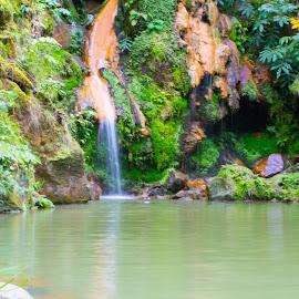 Caldeira Velha by Ricardo Xavier - Novices Only Landscapes ( nature, waterfall, hot water, paradise )