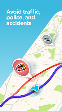 Waze - GPS, Maps & Traffic APK screenshot thumbnail 1