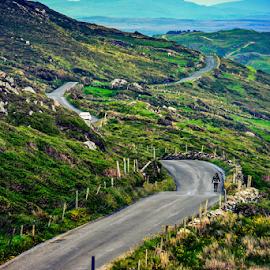 The Sky Road by Travis Pambu - Transportation Roads ( ireland, connemara national park, galway county, june 2015 )