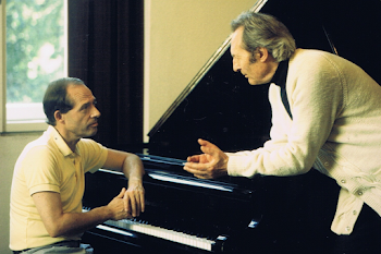 Discussing Franck Symphonic Variations, Vienna, 1993​
