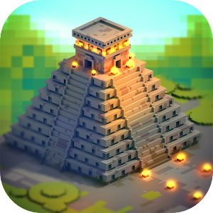 Aztec Craft: Ancient Blocky City Building Games 3D