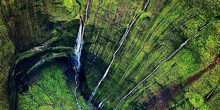 Waialeale, United States of America (451 inches of rainfall)