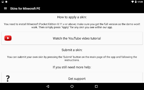 Download Android App Skins for Minecraft PE for Samsung