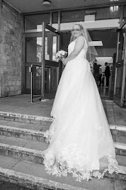 Leanne wearing wedding dress 'Maria'.