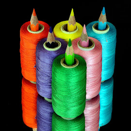 Pencil-thread combo#5-2015 by Asif Bora - Artistic Objects Other Objects