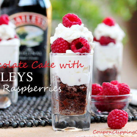 Baileys and Chocolate Raspberry Dessert