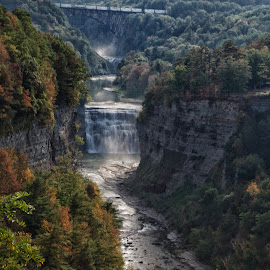 Inspiration Point by Jack Nevitt - Landscapes Waterscapes ( letchworth, park, waterfall, state, ny )