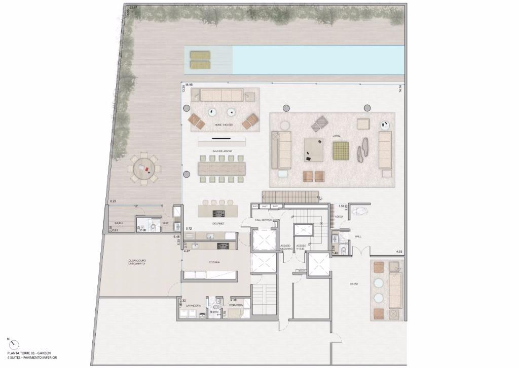 Duplex Garden Pav Inferior  - 738 m²