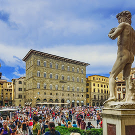 Florence by Zdenka Rosecka - City,  Street & Park  Street Scenes ( historic centre, italy, crowd, city )