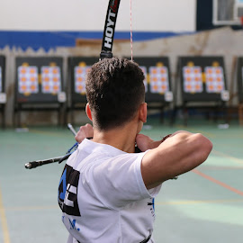 aiming by Liviu Nanu - Sports & Fitness Other Sports ( archer, target, aiming, bow )
