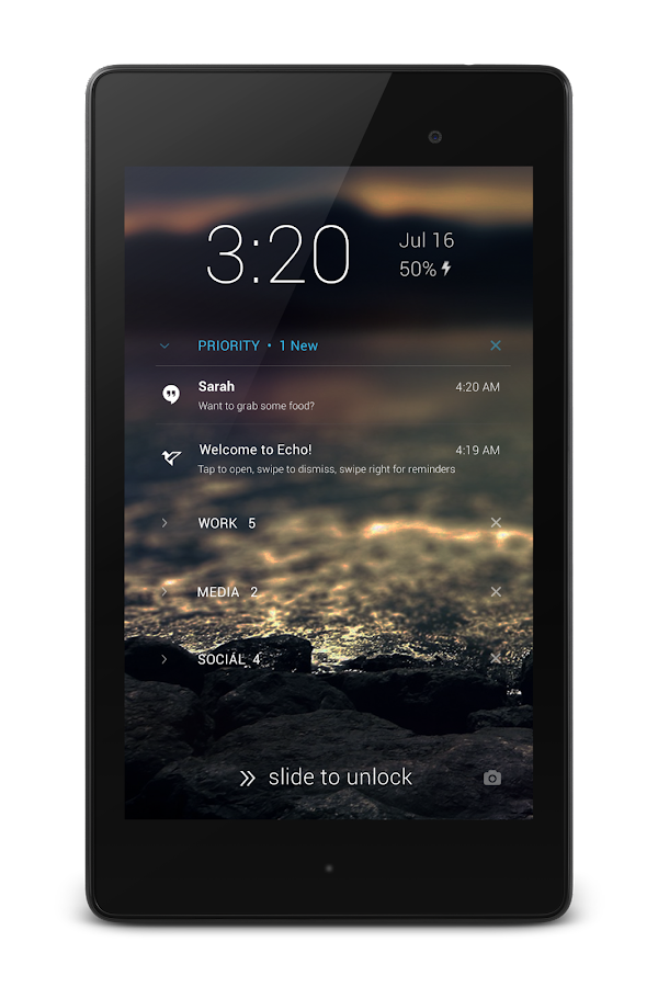 Echo Notification Lockscreen Screenshot 11