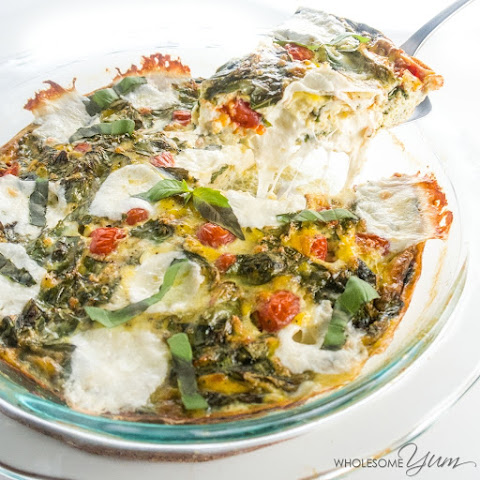 Caprese Crustless Quiche (Low Carb, Gluten-Free)