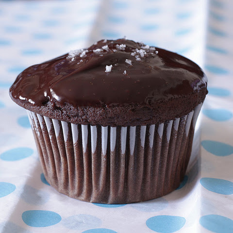 Salted Chocolate-Peanut Butter Cupcakes