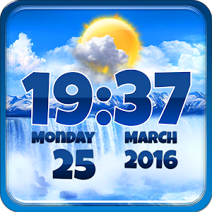 Waterfall Clock Weather Widget.apk 2.0