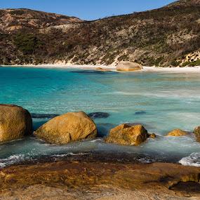 Little Beach Albany 4 by Tony Burnard - Landscapes Beaches ( water, blue, sea, beach, rocks )