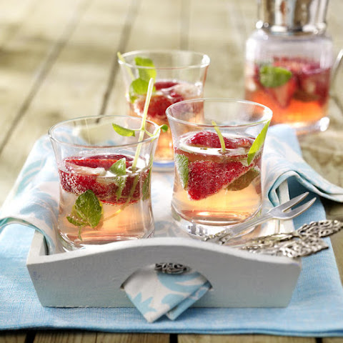 Strawberry and Minted Lime Punch