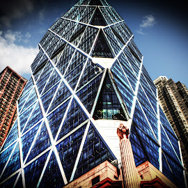 HEARST TOWER IN NY.2 by Maks Erlikh - Buildings & Architecture Office Buildings & Hotels ( modern office buildings, \office buildinga, hearst tower, modern architecture, glass architecture )