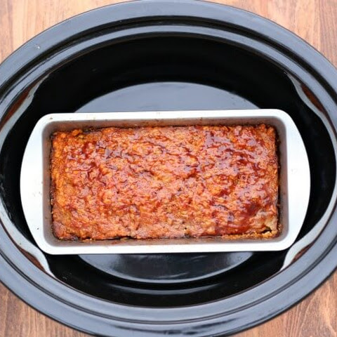 Slow Cooker Homestyle Ground Turkey (or Beef) Meatloaf